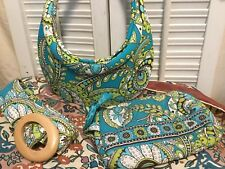 Vera Bradley Sun Visor SunVisor Golf Tennis Peacock Paisley Set w/Belt Cosmetic