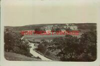 VINTAGE RP POSTCARD FARM AND HOUSE WITH QUARRY POSSIBLY LANCASHIRE