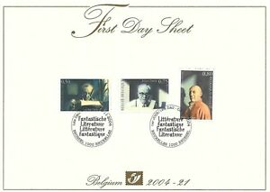[FDS141] Belgium FDS 2004-21 Literature First Day Sheet SUPERB