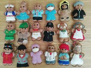 Handmade Gingerbread Man Decoration - Multiple To Choose