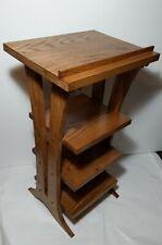 Vintage Carved Oak Wood Podium Book/Music Stand Lectern Table Pulpit Shelves
