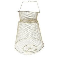 Portable Steel Fish Cast Net Cage Collapsible Fish Storage Tackle 38cm Gold