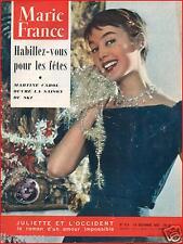 ▬►Marie France 573 de 1955 MODE FASHION RÉVEILLON_MARTINE CAROL_MICK MICHEYL