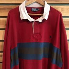 New listing VTG 90s Polo Ralph Lauren FLEECE LINED Pony Logo L/S Rugby Shirt 4XL Tall 4XLT