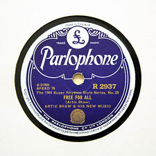 "ARTIE SHAW & HIS NEW MUSIC ""Free For All"" (E) PARLOPHONE R-2937 [78 RPM]"