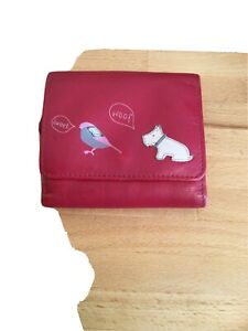 Radley Red Coin Purse And Card Wallet.
