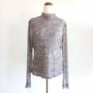 Didier Parakian French Designer Size EUR 46 / AUS 14 Grey Top Blouse Women's