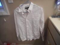 ********* Banana Republic Men's Medium M Dress Shirt Long Sleeved White Slim Fit