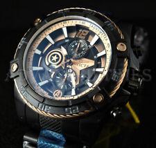 Invicta 52mm Speedway MARVEL Ltd. Ed. Chrono CAPTAIN AMERICA Black IP SS Watch