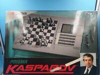 jeu de societe eletronique saitek prisma kasparov vintage complet