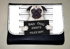 "FAWN PUG ""BAD DOG"" MONEY PURSE WALLET PET ANIMAL LOVER BREED PHOTO GIFT"