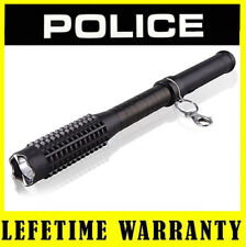 Police Metal Stun Gun 1118 18 BV Rechargeable With Tactical LED Flashlight
