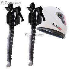 Gradient Ramp Helmet Braids / Ponytail Helmet Hair Pigtails For Motorcycle Bike