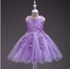 Flower Girl Dress Girls Baby Princess Party Formal Graduation Dresses 2T #L19 MG