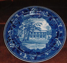 WEDGWOOD HERMITAGE HOME OF ANDREW JACKSON BLUE AND WHITE PLATE RARE ANTIQUE vtm