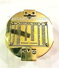 Antique Maritime Geological Compass Vintage Nautical Brass Surveyor Compass