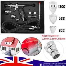 Compressor Airbrush Kit 0.3/05/0.8mm Dual Action Spray Air Brush Gun Art Set AU
