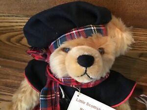RARE Hermann Scottish Teddy Bear Gold Mohair  Growler Sound 34/ 1000 pieces 034