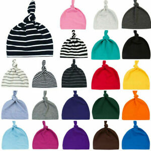 100% Cotton  Baby Boy Girls Winter Plain Beanie Hat Cap Summer Head Wrap