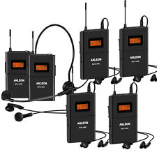 Anleon MTG100 902mhz-927mhz Tour Guide Wireless System Church System 5 Receivers