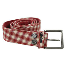 Globe Skate Shoes Gambler Belt Red Plaid Size 32