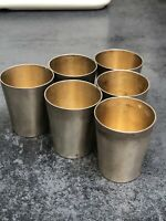 800 Silver Set Of 6 Snaps Shot  Cups