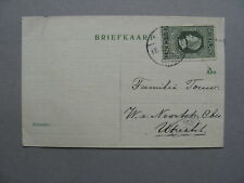 NETHERLANDS, postcard 1918, single franking 2½ cent King Willem I