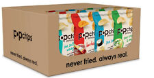 Popchips Potato Chips 4 Flavor Variety Pack 0.8 Ounce (Pack of 24)