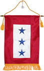 "12x18 Embroidered Three Star Blue Military Service Nylon Flag 12""x18"" Banner"