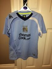 VINTAGE Mcfc Blue  TRAINING TOP FOOTBALL SHIRT LARGE Boys LE COQ SPORTIF Robihno