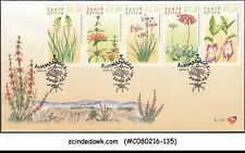 SOUTH AFRICA - 2000 MEDICINAL PLANTS / NATURE / FLOWERS - 5V - FDC