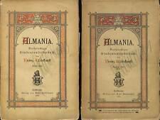 "STUDENTICA Studentenliederbuch ""Almania"" 2 Bände 1885 - ORIGINAL"