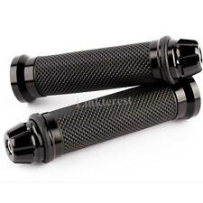 new RUBBER GEL HANDLEBAR HAND GRIPS HANDLE BARS FOR MOTORCYCLE SPORTS BIKE BLACK