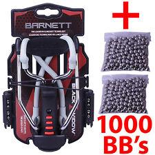 Barnett BLACK WIDOW Powerful Hunting Slingshot Catapult + 1000 x 6.35mm BB Ammo