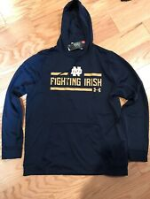 Under Armour NCAA Notre Dame Hoodie Size L BNwT Navy