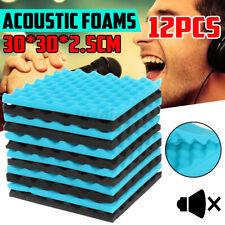 12Pcs Acoustic Panel Studio Soundproofing Foam Wedges Wall Tiles 30x30x2.5cm