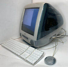 Collectible Vintage Apple Blue iMac With Original Mouse And A1048 Keyboard - EUC