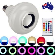 B22 12W LED RGB Bluetooth Music Speaker Bulb Wireless Play Party Light Lamp AU