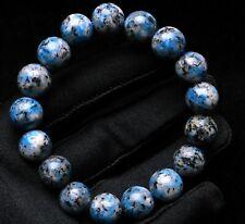12mm Natural K2 Beautiful Blue Azurite Granite Matrix Gemstone Beads Bracelet
