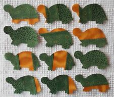 AC10 Iron On Sew On Appliques from Modern Cutter Quilt Blocks, Set of 12 Turtles
