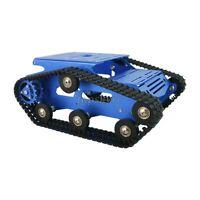 Blue Tracked Tank Chassis CNC RC Tank Chassis Aluminum Alloy DIY Unfinished top