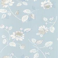 Blue Floral on Blue Wallpaper SW29195