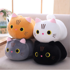 Cartoon plush Cat pillow cute round-eyed kitten doll gift plush toy Holiday gift