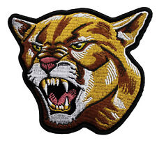 Cougar Embroidered Iron On Patch - Wild Animal Cat 050-R