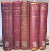 5 Volumes, THE MORRIS FAMILY OF PHILADELPHIA, 1898, 1st Edition, by ROBERT MOON