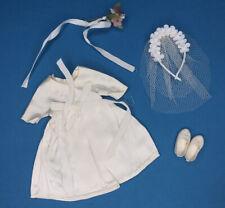 VINTAGE Barbie sister SKIPPER Pepper CLONE Clothes 1st Comunione/Abito da sposa