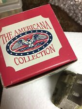 Nib The Americana Collection Liberty Falls Lot of 6 Miniature Buildings 1992