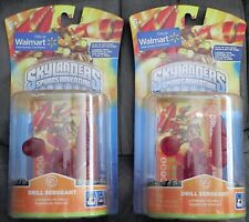 2 NEW Skylanders Spyro's Adventure *CLEAR RED DRILL SERGEANT* Walmart Exclusive