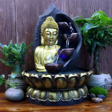 Buddha Statue Resin Lucky Water Running Fountain Figurine Home Decorations Gifts