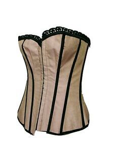 Dream girl WOMEN NEW Size 32 EYE-HOOK Lace Up Corset  Reversible Black/Pink(#m8